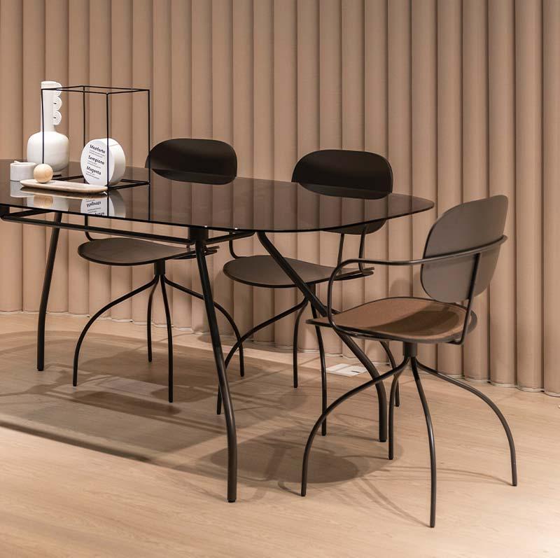 Glass chairs
